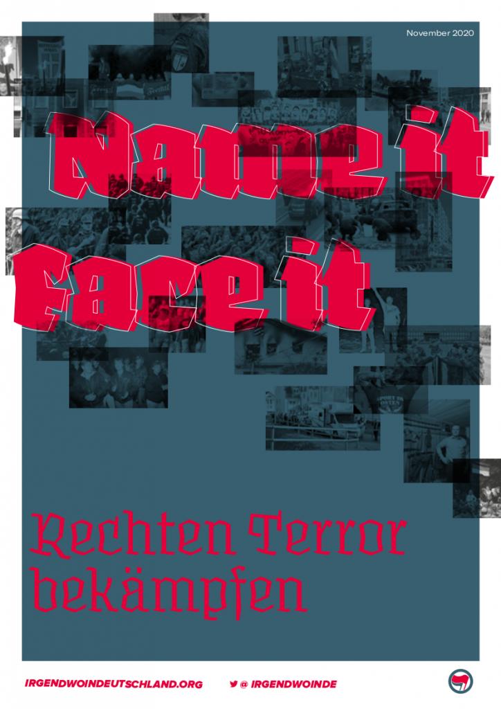 Titel der Broschüre Name it, face it! Rechten Terror bekämpfen!